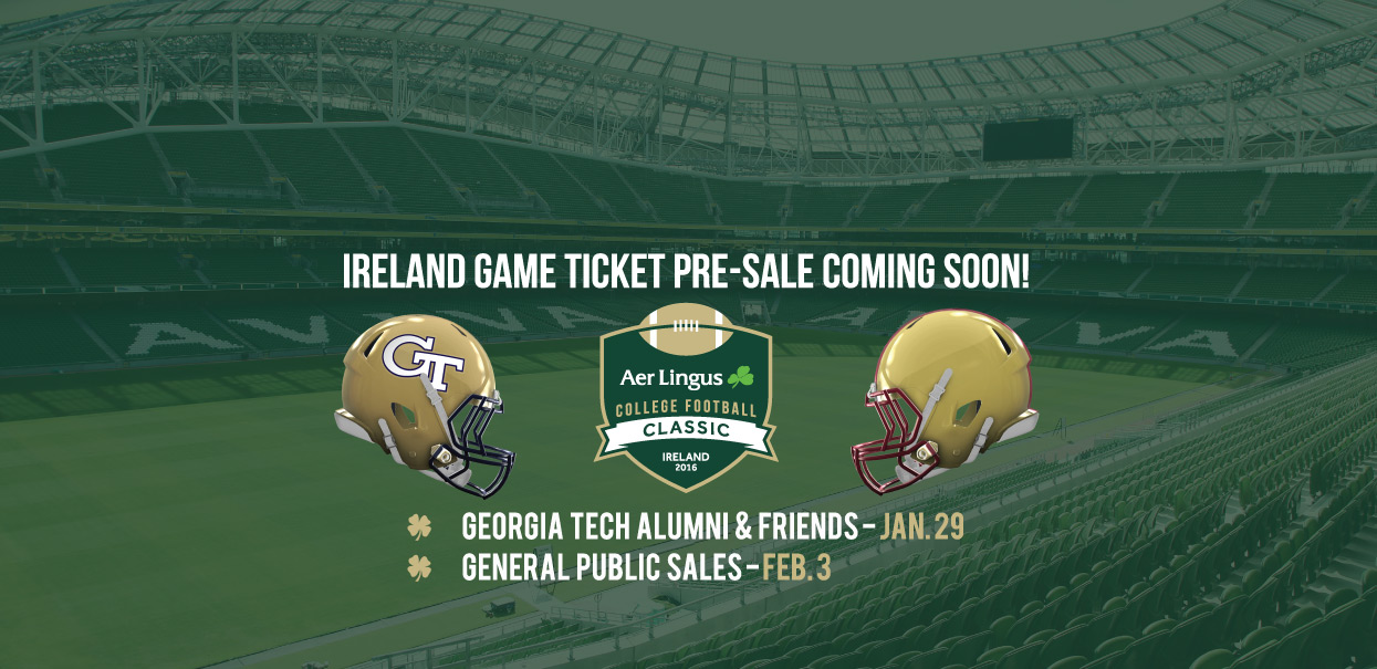 Ireland Game Ticket Pre-Sale Begins January 29!