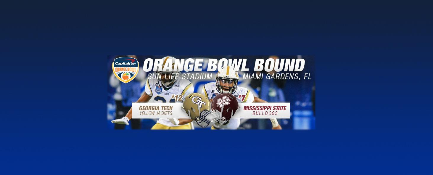 The Yellow Jackets are headed to the Orange Bowl