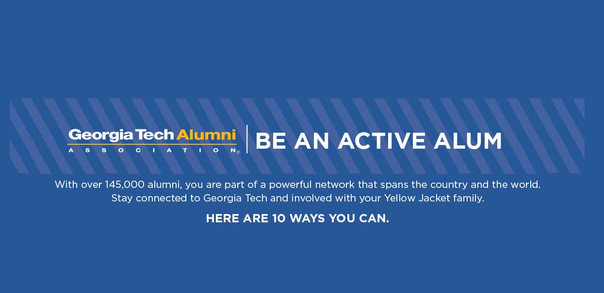 View the 10 ways you can be an active alum