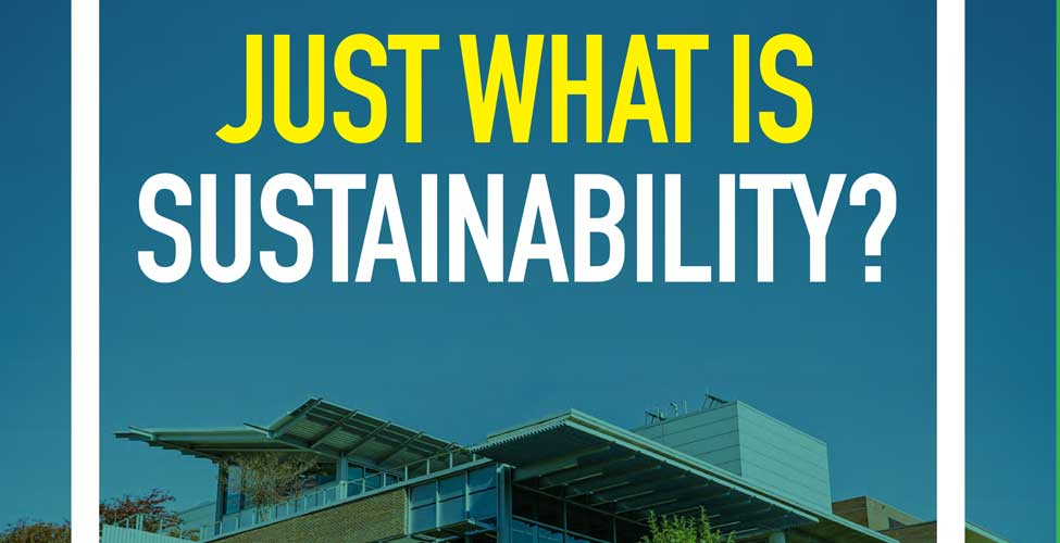 Just What is Sustainability?